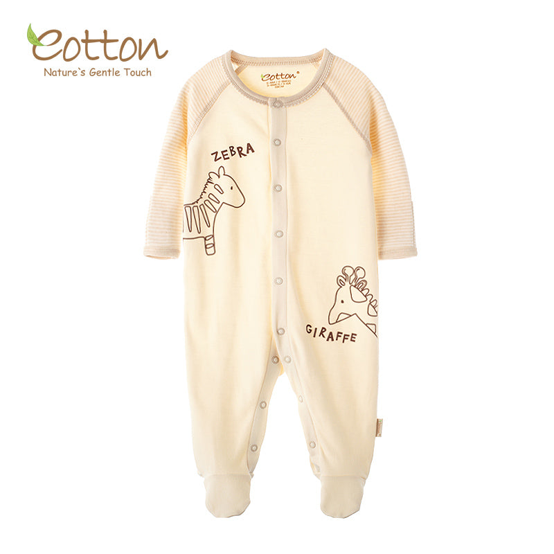 New Organic Cotton Newborn Baby Feetie Romper | Warm Soft
