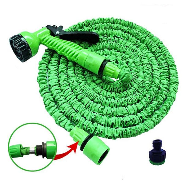 EXPANDABLE HOSE WITH SPRAY GUN