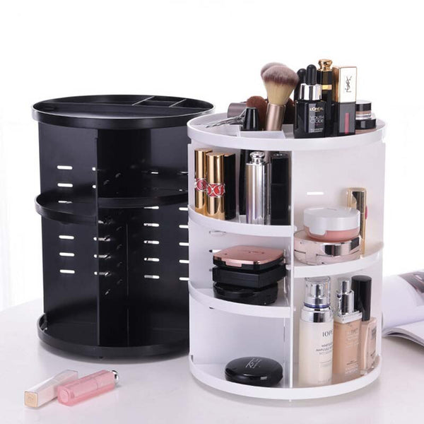 360 DEGREE ROTATING MAKE UP ORGANIZER SET COSMETIC BRUSH RACK HOLDER
