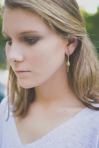Long Knot Drop Earring