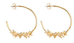 Sticks Hoop Earring