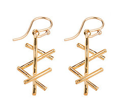 Sticks Link Drop Earring