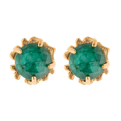 Kleck Stud with Faceted Emerald