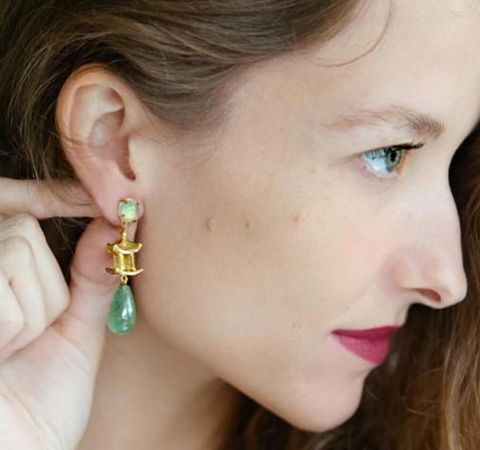 Pagoda Drop Earring
