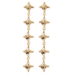 Long Pagoda Pyramid Dangle Earring