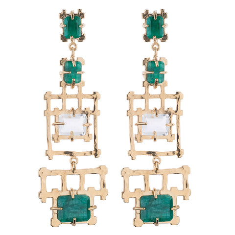 Bamboo Chandelier Earrings
