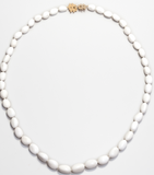Kleck Clasp Large Oval Bead Necklace