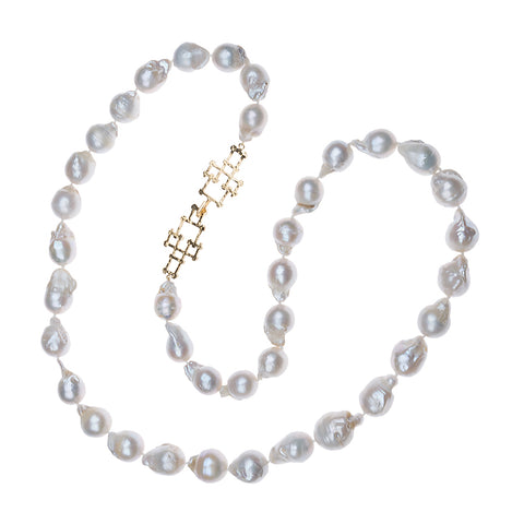 Bamboo Clasp Large Bead Necklace