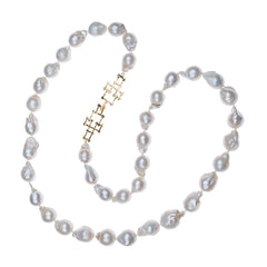 Bamboo Clasp Baroque Pearl Necklace
