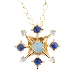 Pagoda Maltese Cross Necklace