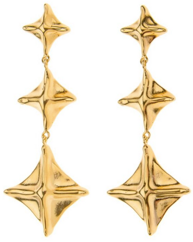 Les Pagoda Pyramid Earrings