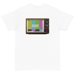 """We Come In Peace T.V"" Shirt"