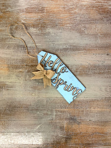 Hello Spring Door Tag