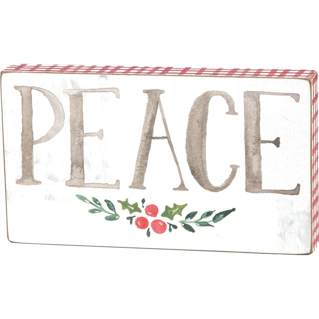 Peace Box Sign