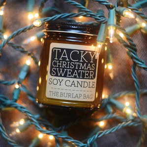 Tacky Christmas Sweater- Burlap Bag Candle LIMITED EDITION