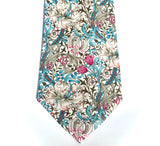 William Morris Tie: Golden Lily Pink