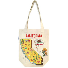 California Map Tote Bag
