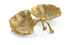 Michael Aram New Leaves Ginkgo Double Compartment Dish