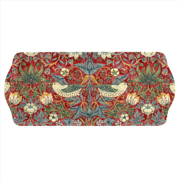 William Morris Strawberry Thief  Red Sandwich Tray