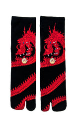 Red Dragon Tabi Socks