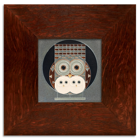 Family Owlbum Framed Tile