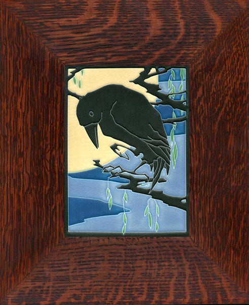 Framed Midnight Raven Tile
