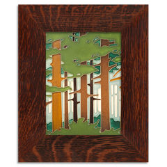 Woodlands Tile Framed