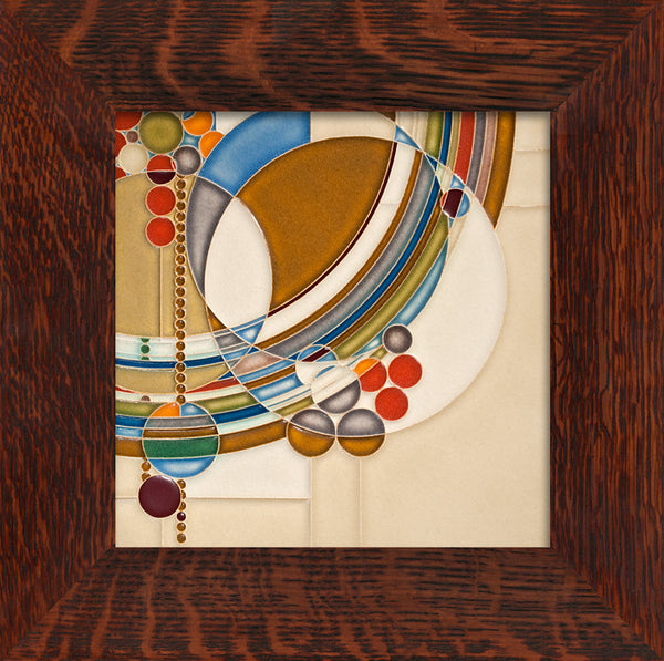 Frank Lloyd Wright: March Balloons Framed Tile