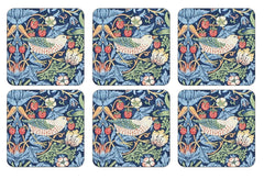 William Morris Strawberry Thief Blue Coasters