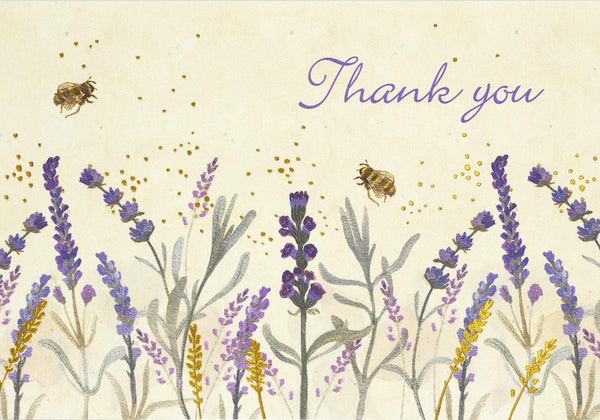 Lavender and Honey Thank You Boxed Notecards