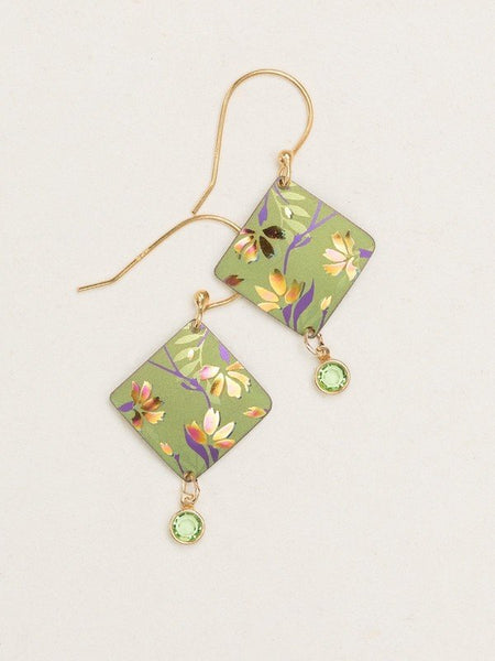 Green Multi Garden Sonnet Earrings