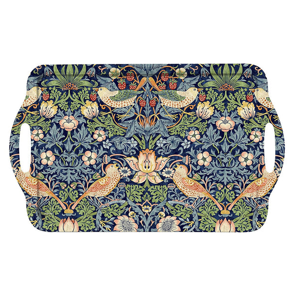 William Morris Strawberry Thief Blue Handled Tray