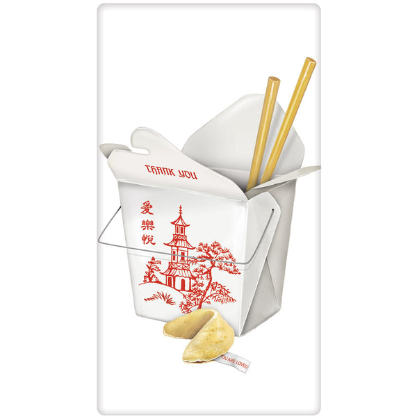 Chinese Food Take Out Flour Sack Kitchen Towel