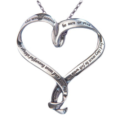 Helen Keller Heart Pendant Necklace