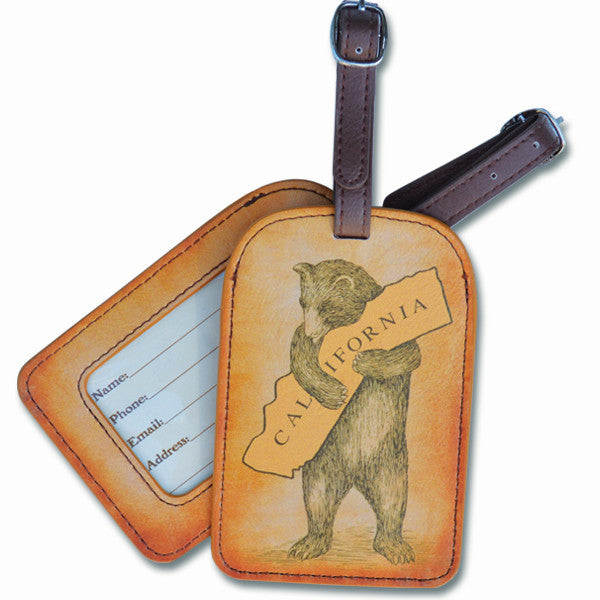 California Bear Hug Luggage Tag