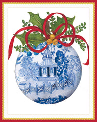 Blue and White Ornament Boxed Notecards