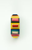 Multicolor Beveled Rectangles Bracelet
