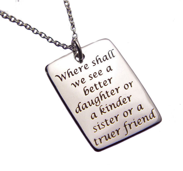 Daughter Sister Friend Necklace