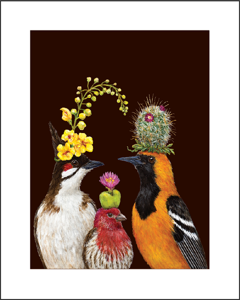 "Limited Edition Huntington Exclusive ""Desert Garden Trio"" Print by Vicki Sawyer"