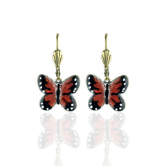 Tiny Monarch Butterfly Earrings