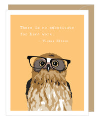 Owl Graduation Notecard