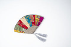 Chinese Silk Brocade Fan Purse