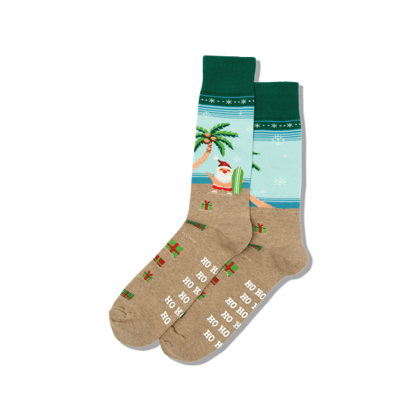 Men's Surfing Santa Socks