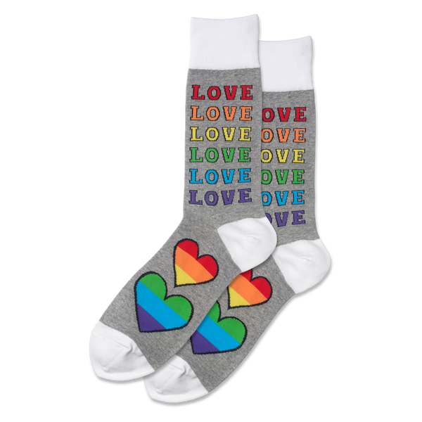 Men's Rainbow Love Socks