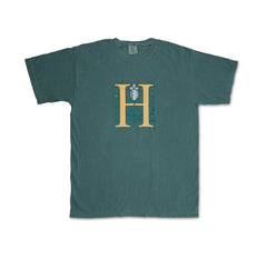 Huntington Logo on Green T-Shirt