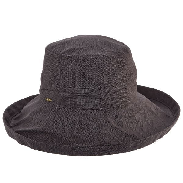 Charcoal Big Brim Hat