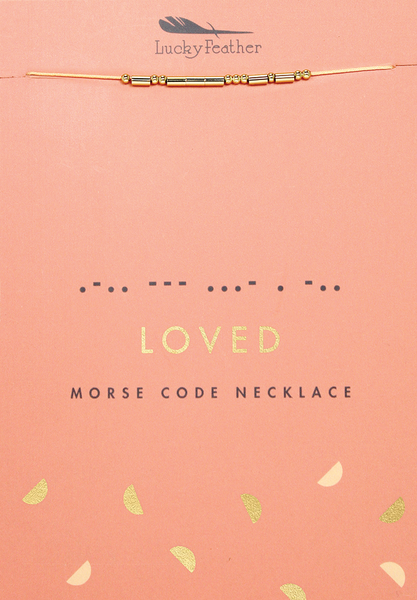 Morse Code LOVED Necklace