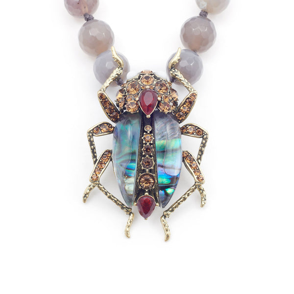 Jeweled Bug Statement Necklace