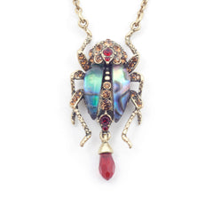 Jeweled Bug Statement Pendant