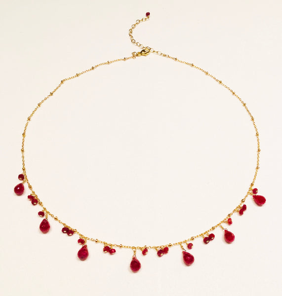 Small Ruby Necklace